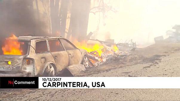 Incêndios na Califórinia ameaçam Santa Barbara