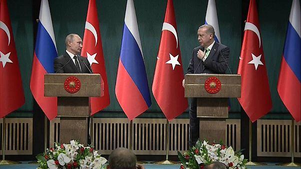 Erdoğan ve Putin'den Kudüs için ortak tepki
