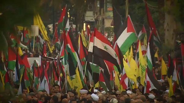 Hezbollah junta milhares de manifestantes em Beirute