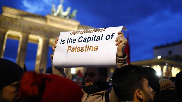 Propalästinensische Demonstration am Brandenburger Tor