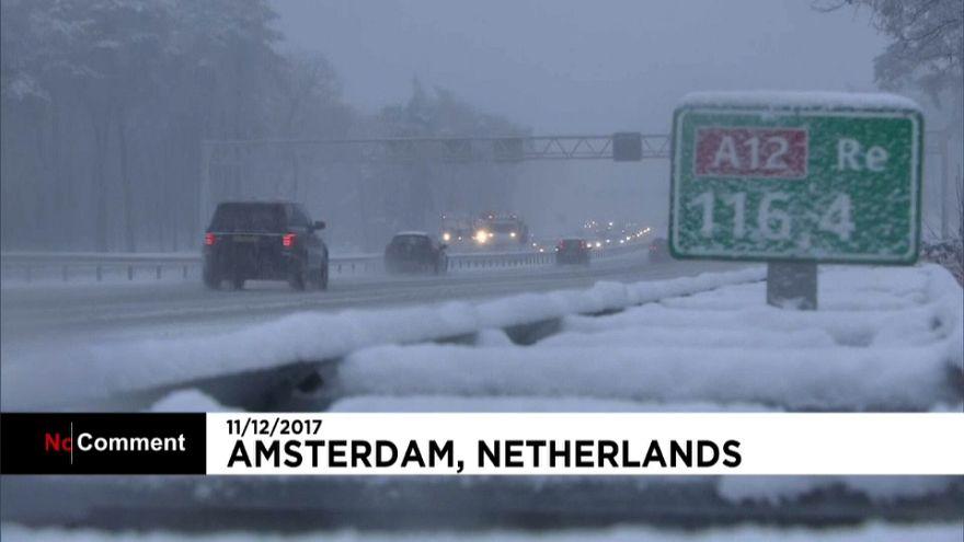 Нидерланды: снег да снег кругом
