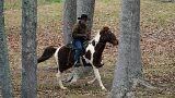 روی مور، نامزد جمهوریخواه آلاباما سوار بر اسب به حوزه رایگیری رفت