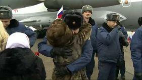 Российские военные возвращаются из Сирии
