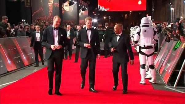 """William e Harry atores em """"Star Wars: Os últimos jedi"""""""