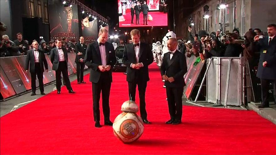 Star Wars: Princes attend The Last Jedi premiere
