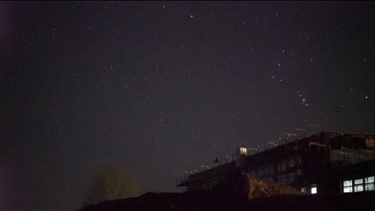 Meteors in the sky