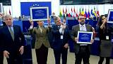 Members of Venezuela's democratic opposition have received the European Union's human rights award
