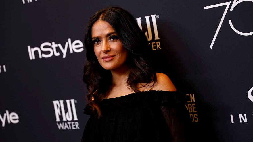 Actor Salma Hayek attends the Hollywood Foreign Press Association