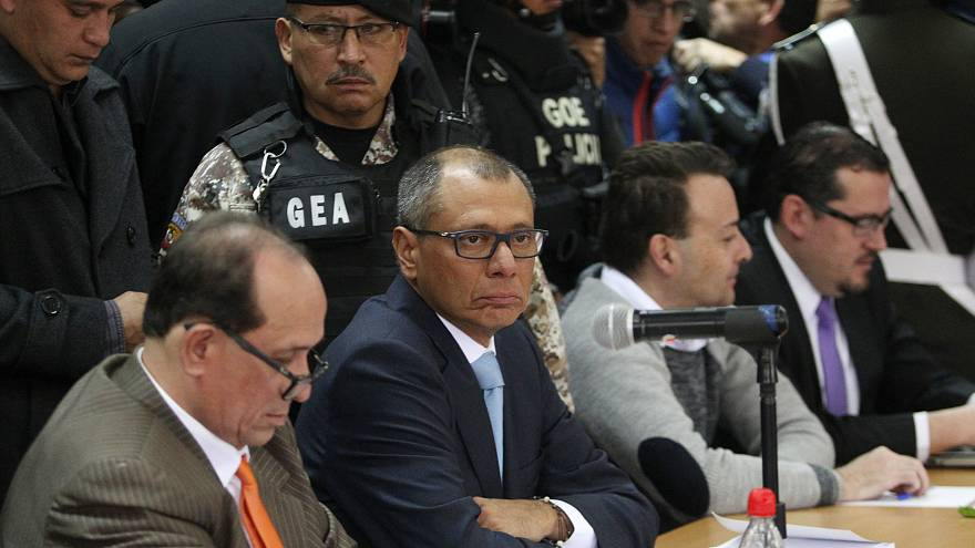 El vicepresidente de Ecuador, Jorge Glas, durante el juicio