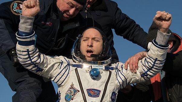 """O regresso à Terra dos """"veteranos"""" da ISS"""