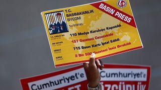 إغلاق 110 وسيلة إعلامية، 157 صحفي مسجون، 715 بطاقة صحافة ملغاة،