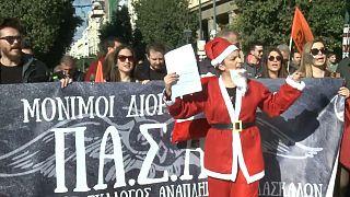 Grecia vuelve a gritar en las calles contra la austeridad
