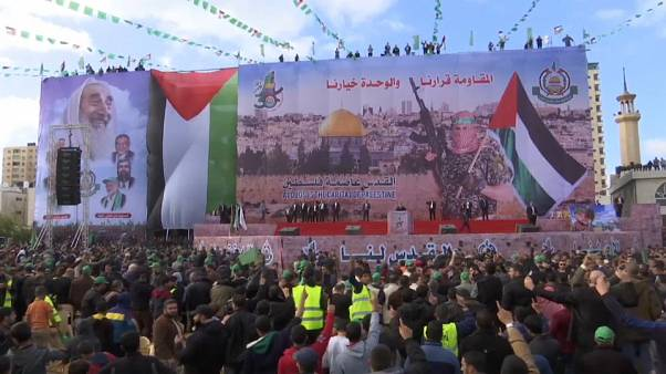 حماس تحتفل بذكرى انطلاقتها الثلاثين على وقع الغضب الفلسطيني من قرار ترامب