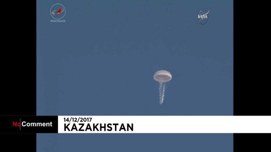 Astronautas regressam da Estação Espacial Internacional