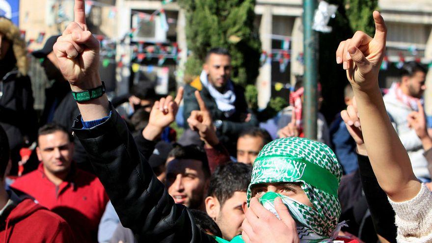 درگیری جوانان فلسطینی با نظامیان اسرائیلی در نابلس