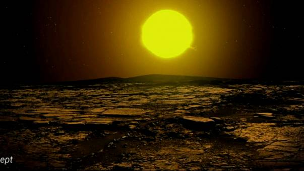 An artists impression of the newly-discovered Kepler 90i planet.