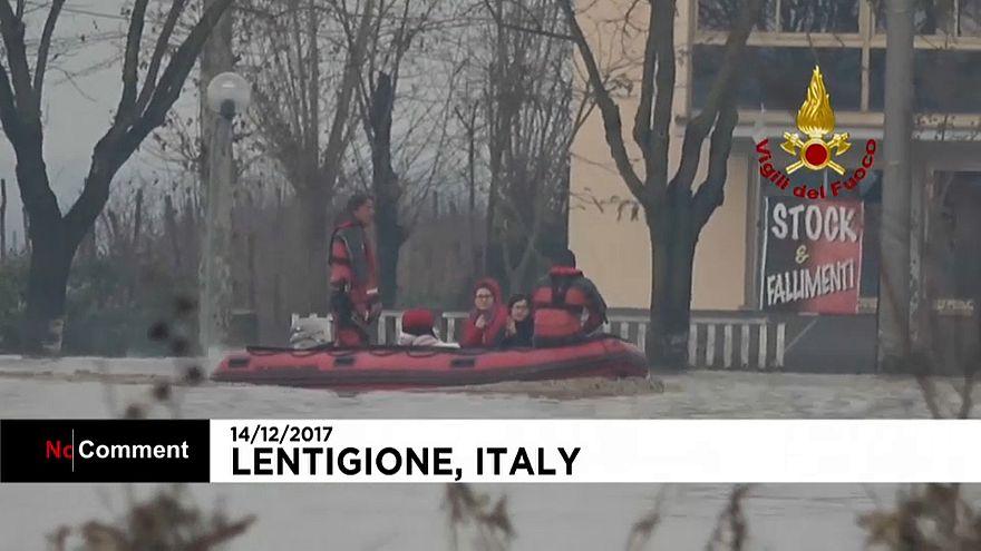 Eis und Fluten in Italien