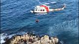 Kayalıklarda mahsur kalan kaçak göçmenler kurtarıldı