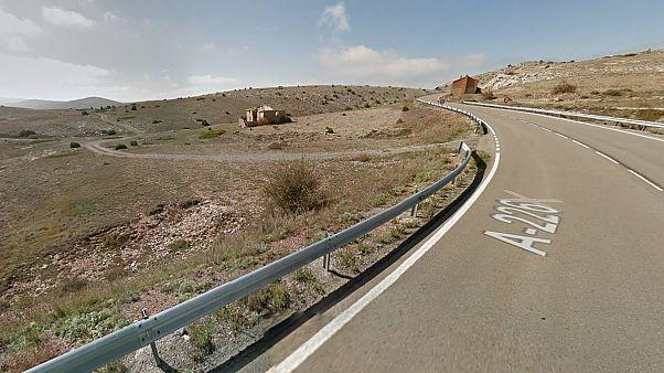 Il tratto di strada sulla A226 nei pressi di Teruel dove è stato arrestato