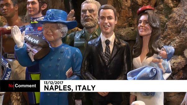 Neapel: Figuren von der Queen, Trump und Kate Middelton