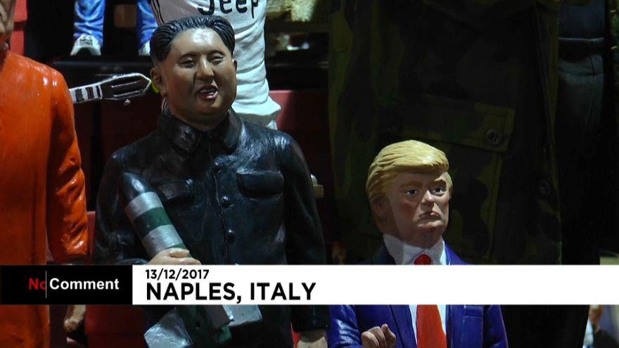 Navidad en Nápoles con Trump y Kim Jong-un