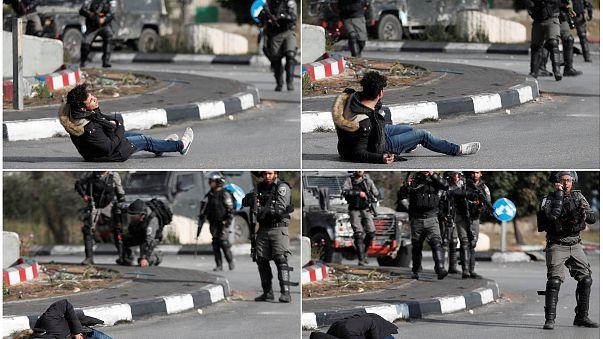 صور تظهر سقوط شاب فلسطيني بالقرب من مستوطنة بيت إيل بشمال رام الله.
