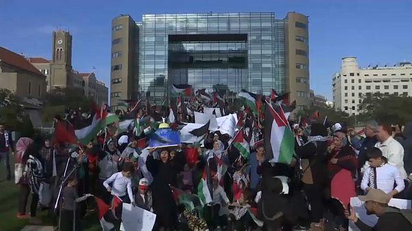 مظاهرات في لبنان تضامنا مع القدس