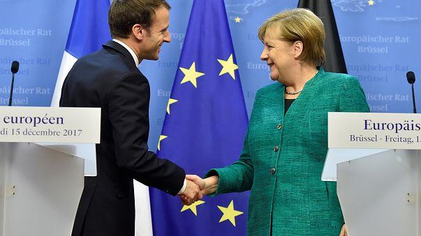 Emmanuel Macron und Angela Merkel