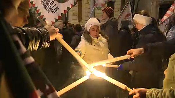 A Jobbik tüntetéséhez más ellenzékiek is csatlakoztak