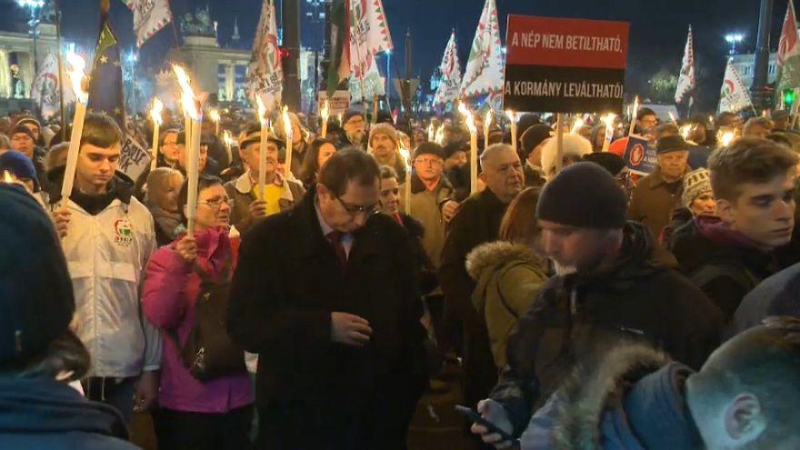 Венгрия: демонстрация оппозиции