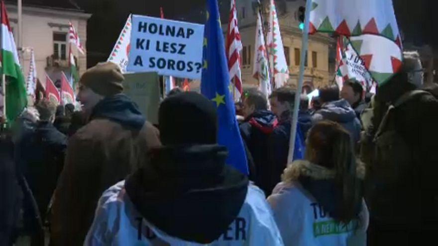 Macaristan'da iktidar karşıtı gösteri