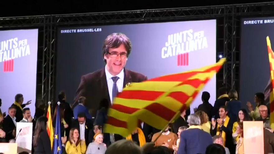 Mitin de Junts per Catalunya en Barcelona
