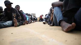 Mentőakció a líbiai partoknál