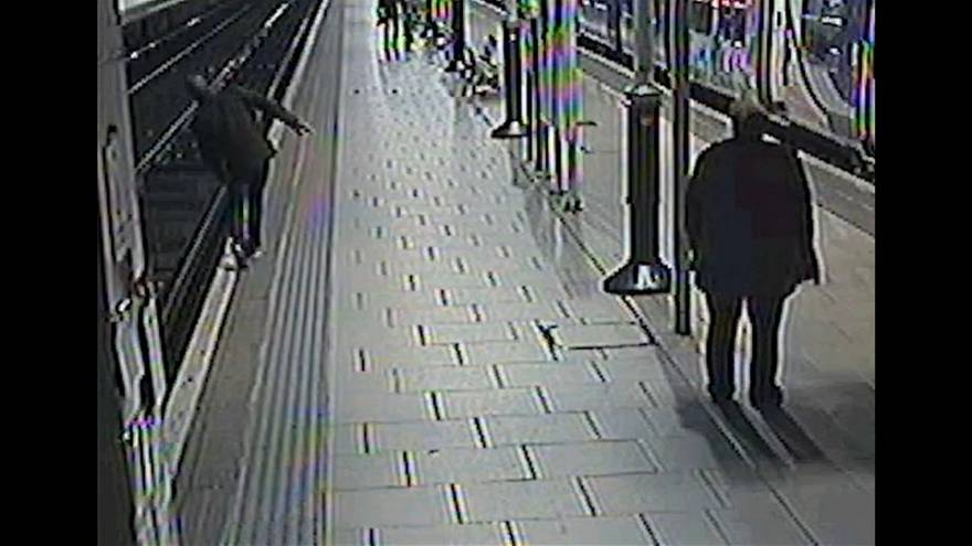 Watch: Drunk travellers fall on to rail tracks during the festive period