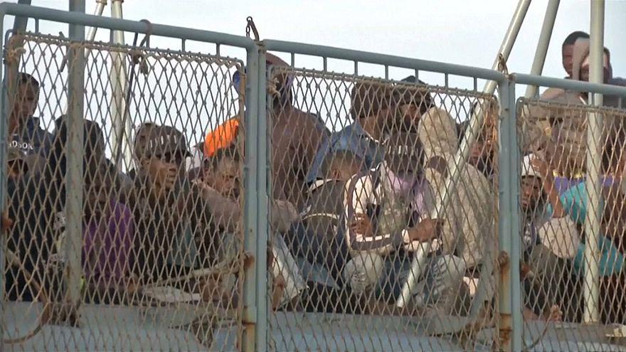 Libya açıklarında göçmen operasyonu