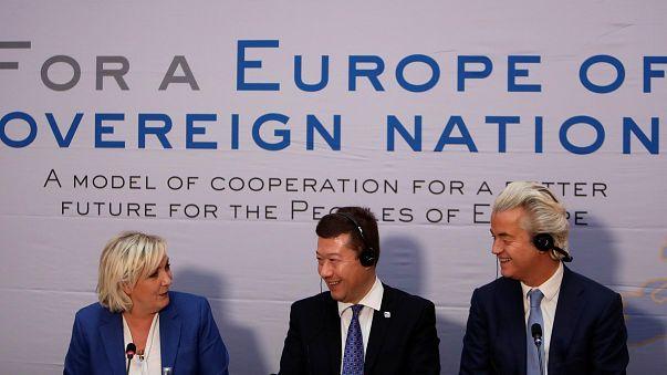 Líderes dos partidos populistas europeus unidos contra a UE