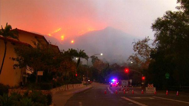 Miles de evacuados en California por el devastador incendio Thomas