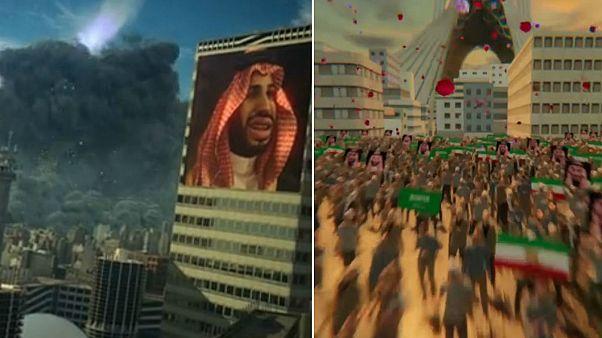 جنگ انیمیشنی ایران و عربستان