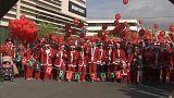 """""""Santa Run"""" in Athen"""