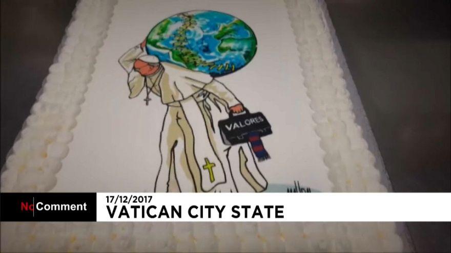 Papst feiert 81. Geburtstag - dazu eine individuell kreierte Torte