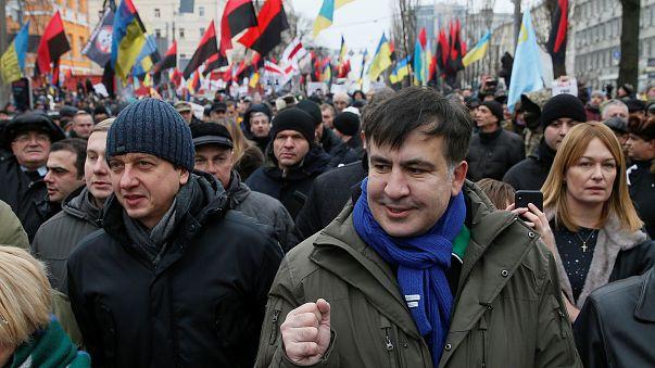 Tausende demonstrieren in Kiew für den Rücktritt Poroshenkos