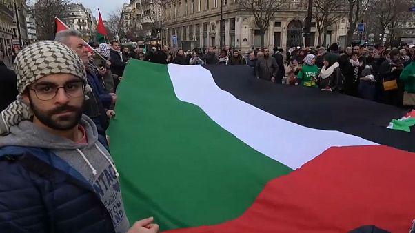 مظاهرة منددة بقرار ترامب بشأن القدس في العاصمة الفرنسية باريس