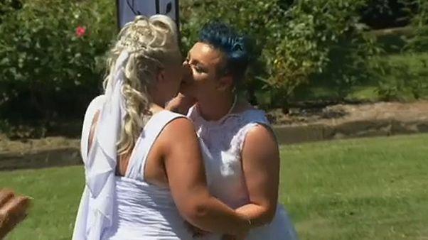 Egybekelt az első ausztrál meleg pár