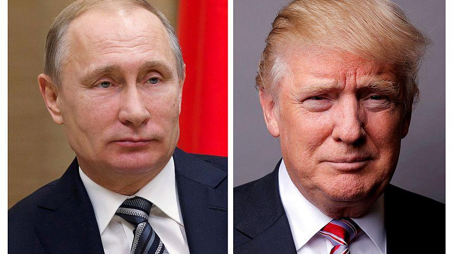 Vladímir Putin, presidente de Rusia y su homólogo de EEUU, Donald Trump