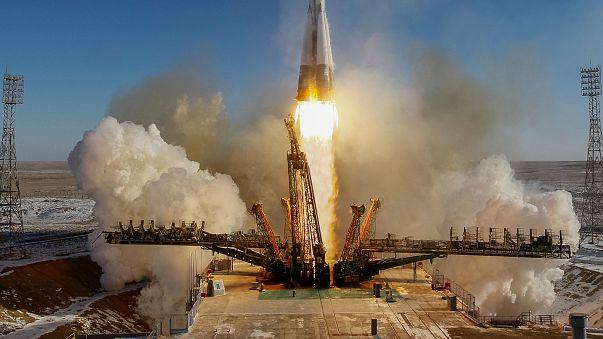 """المركبة الفضائية """"سويوز إم إس 07"""" تنطلق بنجاح"""