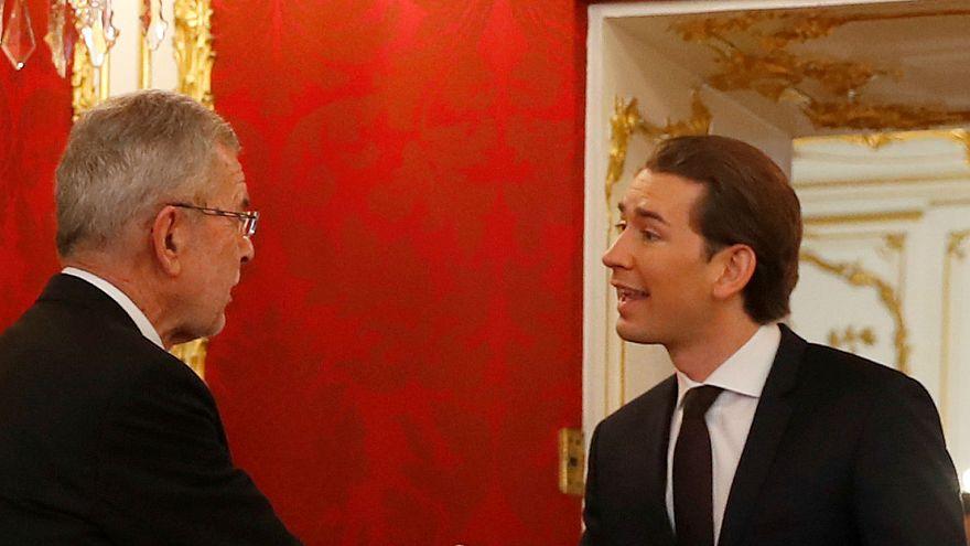 Sebastian Kurz mit Präsident Alexander Van der Bellen