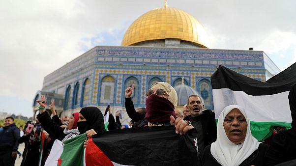 تظاهرات «جمعه خشم» فلسطینیان در اعتراض به تصمیم رئیس جمهوری آمریکا