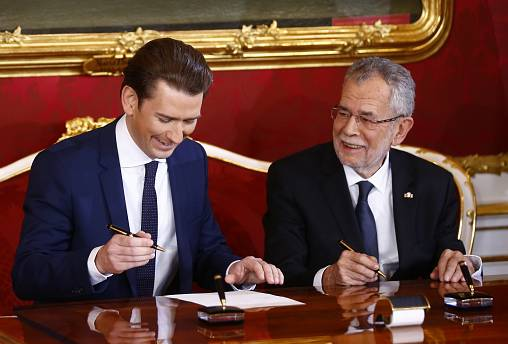 Live footage: Austria's president swears in new coalition government