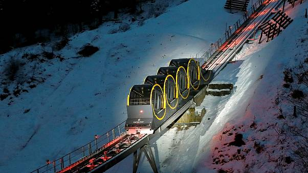The world's steepest funicular railway opens in Switzerland