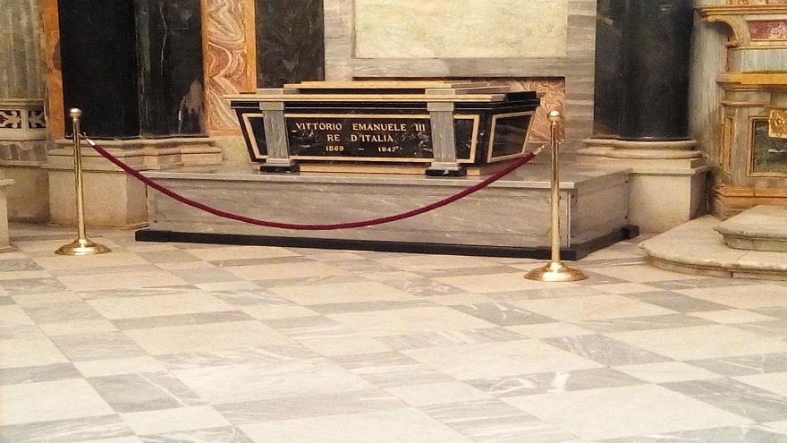 The tomb of Italy's Queen Elena near Turin